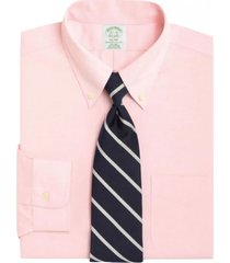 camisa milano fit non-iron pbd rosado brooks brothers