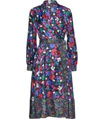 reflection, 883 wildflowers silk jurk knielengte paars stine goya