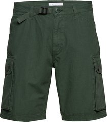 trek durable rib-stop shorts - gots shorts cargo shorts groen knowledge cotton apparel