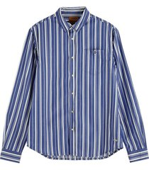 overhemd gestreept blauw