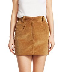 ultra high-rise corduroy skirt