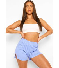 boyfriend pyjama shorts, blue