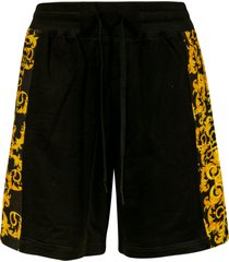 versace jeans couture side print shorts