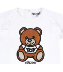 moschino white dress for babygirl with teddy bear