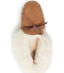 fireside women's brisbane genuine moccasin slipper with tie, online only
