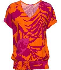 blus mahon t-shirts & tops short-sleeved orange desigual