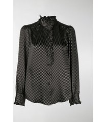 marc jacobs marc jacobs runway ruffle collar blouse
