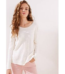 loft double scoop neck sweater