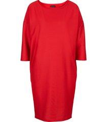 abito di jersey con manica a 3/4 (rosso) - bodyflirt