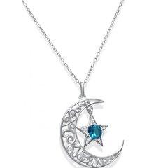 collar luna estrella casual plata  arany joyas