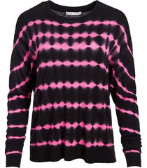 alice+olivia striped cashmere jumper - black
