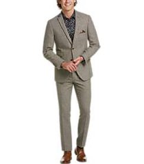 paisley & gray slim fit suit separates coat gray & brown houndstooth