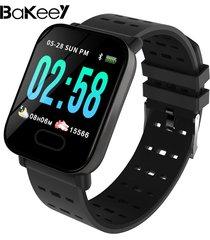 bakeey m20 1.3 \'pantalla grande real hora hr presión arterial de oxígeno monitor reloj inteligente de larga espera - negro