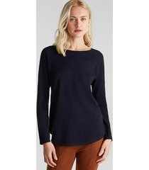 sweater azul marino esprit