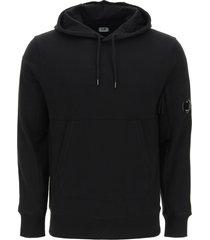 c.p. company diagonal raised fleece hoodie