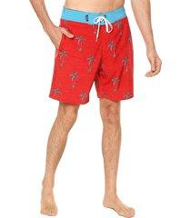 traje de baño rojo-turquesa ocean pacific