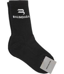 balenciaga woman black sporty b socks