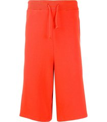 henrik vibskov hang drop-crotch track shorts - orange