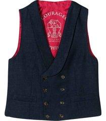 brunello cucinelli blue v-neck vest