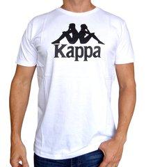camiseta kappa authentic estessi - blanco