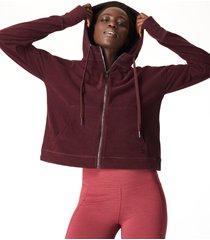 sanctuary luxe fleece zip through hoody