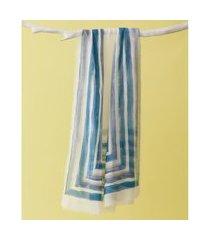 lenço estampado - lenço tapajós cor: azul - tamanho: único