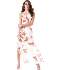 vestido richini longo floral feminino