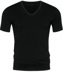 mey t-shirt v-neck (46007) dry cotton black