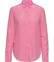 classic silk shirt overhemd met lange mouwen roze filippa k