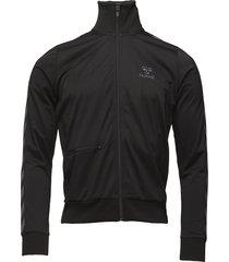 classic bee zip jacket t-shirts long-sleeved svart hummel