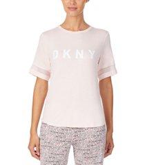 dkny women's logo pajama t-shirt
