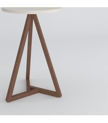 mesa lateral clã¡ssica off white amãªndoa casah - branco - dafiti