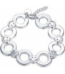 cerchio hollow yueyin® con il braccialetto semplice felice del fronte per il regalo delle donne