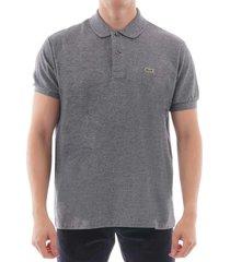 lacoste grey polo shirt l1264-00