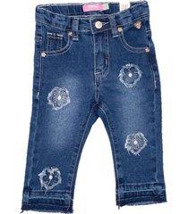 jeans beba aplicaciones flores en la mis denim  pillin
