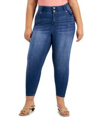 celebrity pink plus trendy mid-rise skinny jeans