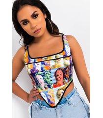 akira work of art corset tank top