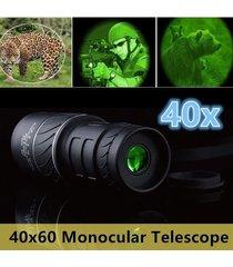 2020 nuevo día y noche visión 40x60 hd óptica monocular