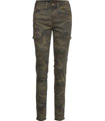 anina carmu pants - shape fit pantalon met rechte pijpen groen cream