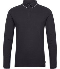 polo shirts polos long-sleeved svart esprit collection