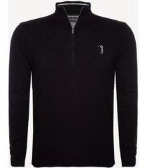 suéter aleatory 1/2 zíper masculino