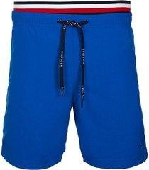 traje de baño double waistband azul tommy hilfiger