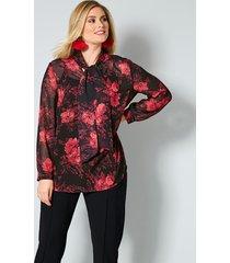 blouse sara lindholm rood::zwart