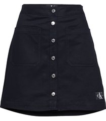 cotton butt d mini kort kjol svart calvin klein jeans