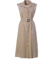 aspesi sleeveless belted dress
