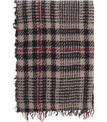 faliero sarti mark striped scarf pied de poule 70x120