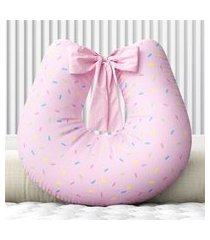almofada amamentação rosa granulado zíper grão de gente rosa