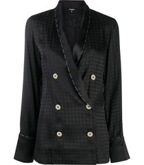 balmain geometric pattern pajama top - black