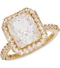 adriana orsini women's goldtone & crystal ring - size 6
