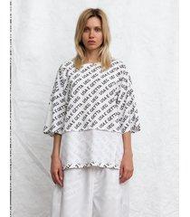 t-shirt pattern oversized tee